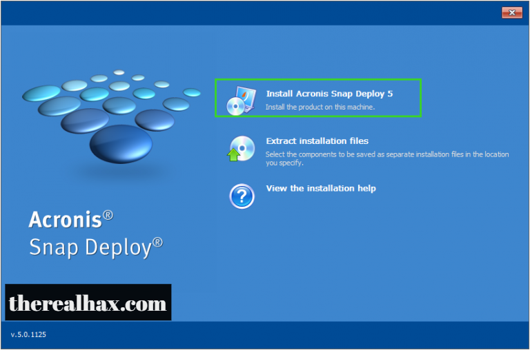 Acronis Snap Deploy License Key